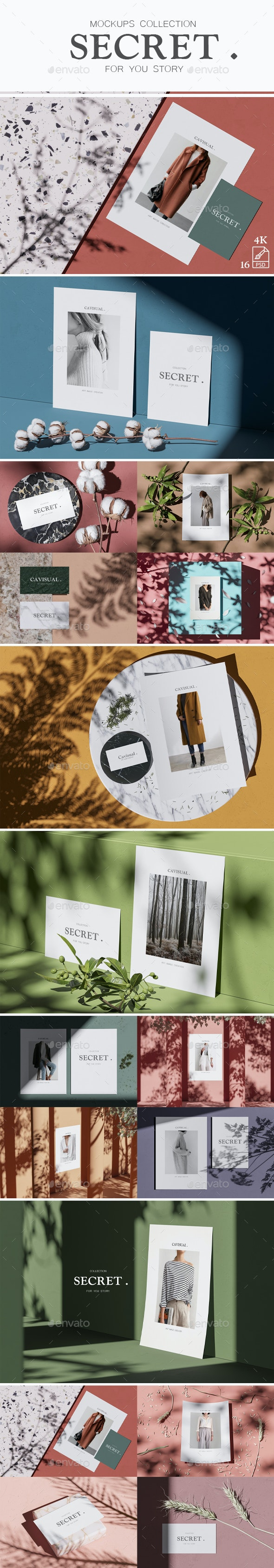 Mockups Collection - Secret - Stationery Print