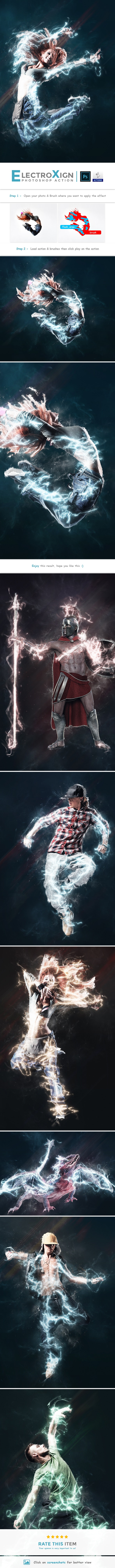 ElectroXign | PS Action - Photo Effects Actions