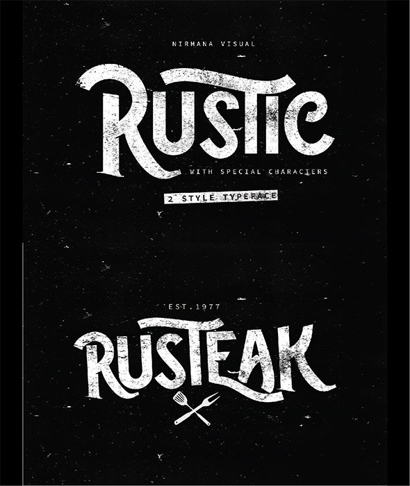 The Rustic - 2 Style Font - Handwriting Fonts