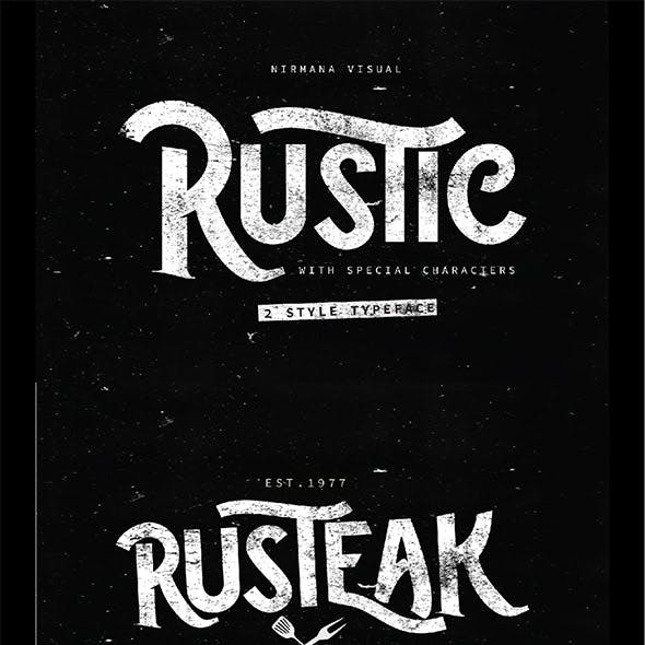 The Rustic - 2 Style Font