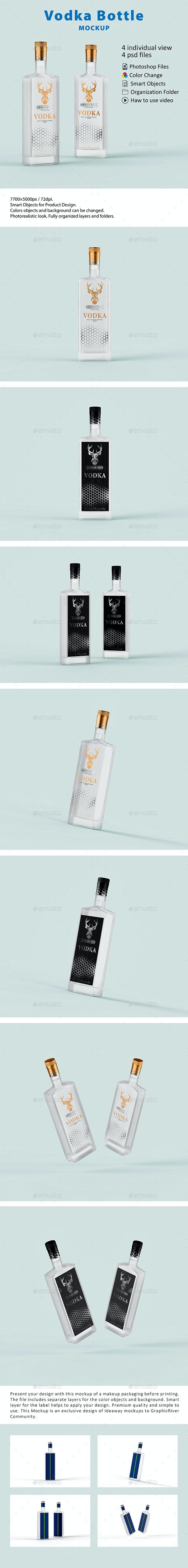 Vodka Bottle Mockup - Food and Drink Packaging