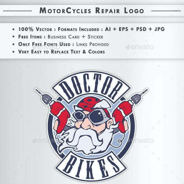 MotorCycles Repair : Logo + Business Card