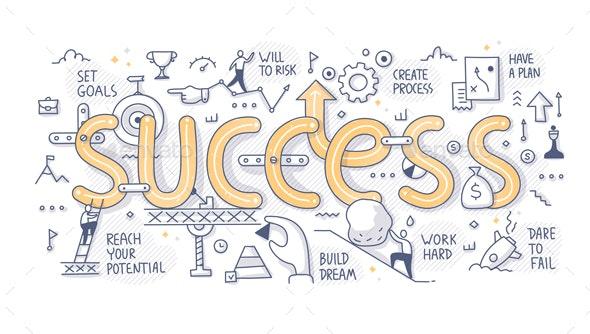 Success Word Doodle Concept - Miscellaneous Conceptual