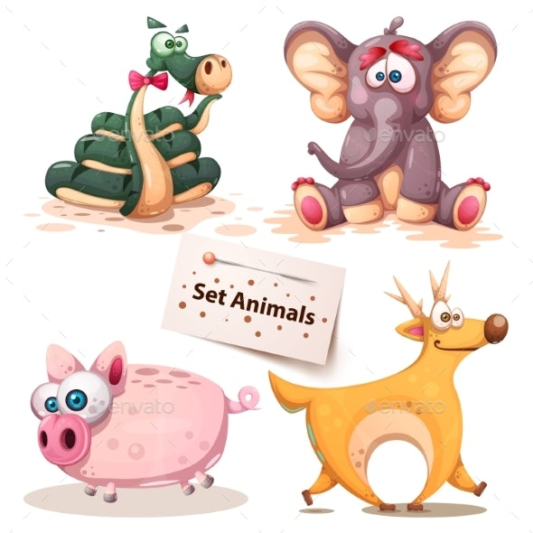 Set of Animals - Animals Characters