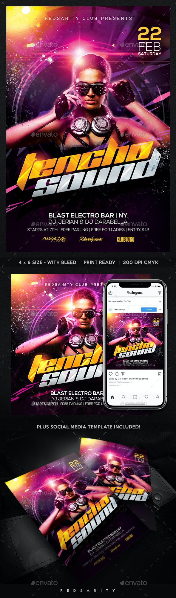 Techno Sound Flyer - Clubs & Parties Events