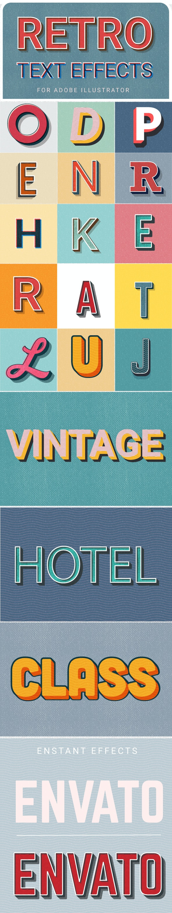 Vintage Text Effects - Styles Illustrator
