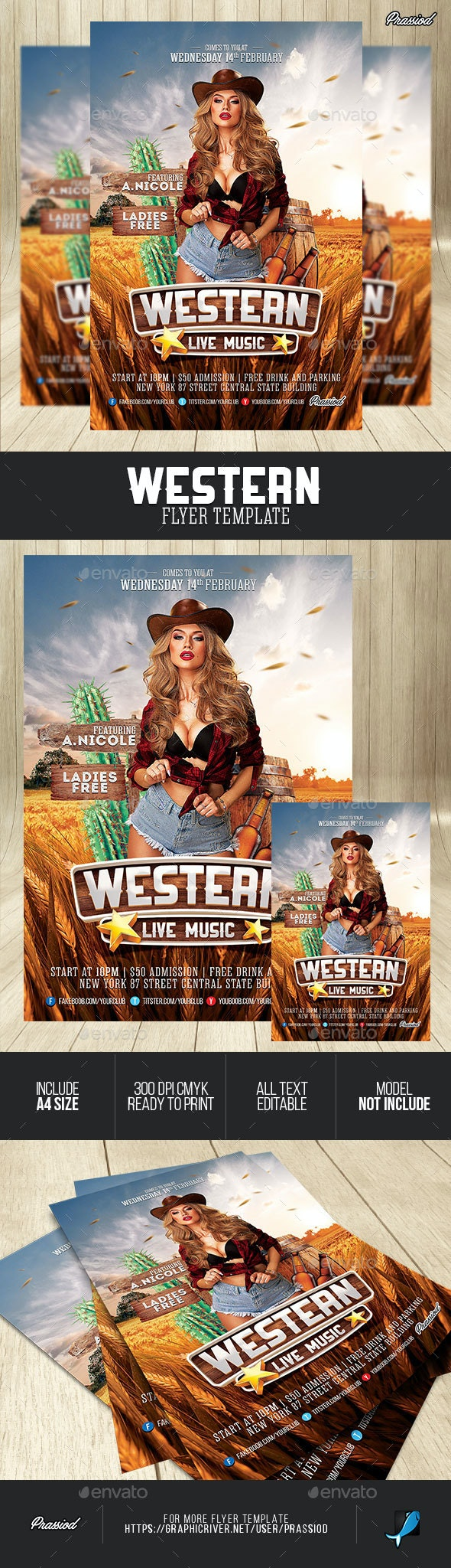 Western Flyer Template - Clubs & Parties Events