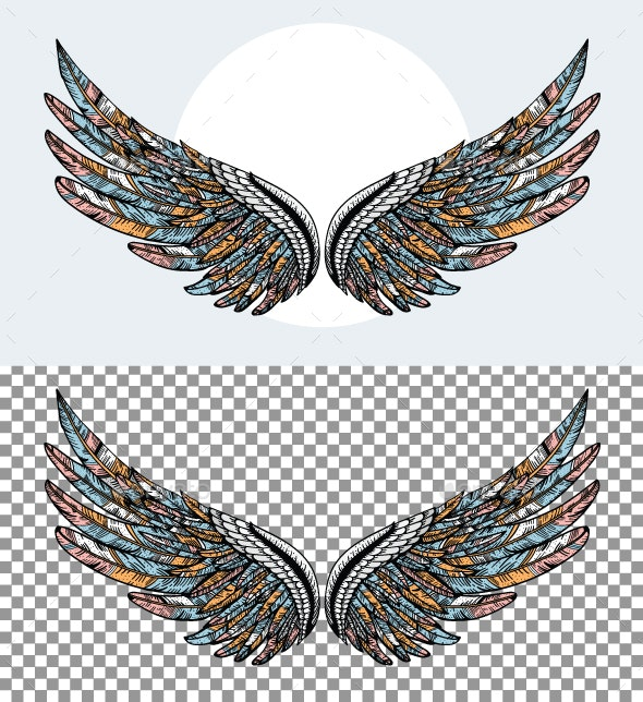 Wings - Tattoos Vectors