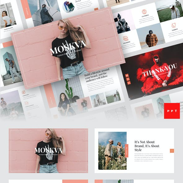 Moskva - Fashion PowerPoint Template