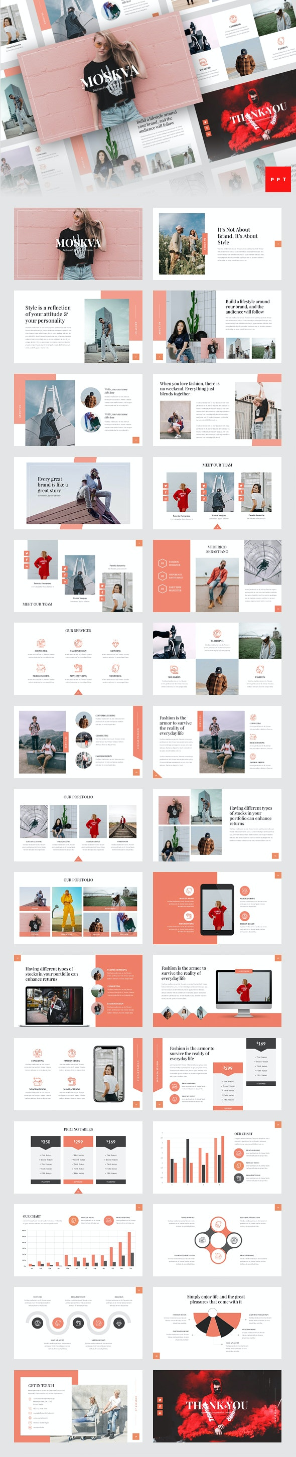 Moskva - Fashion PowerPoint Template - Creative PowerPoint Templates