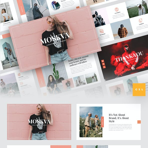 Moskva - Fashion Google Slides Template