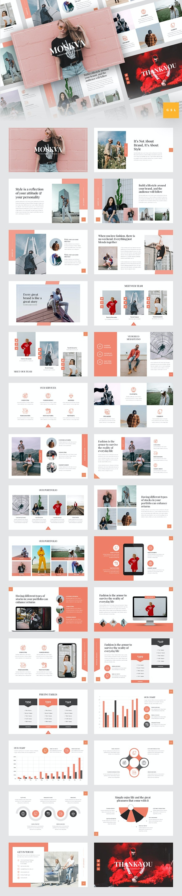 Moskva - Fashion Google Slides Template - Google Slides Presentation Templates