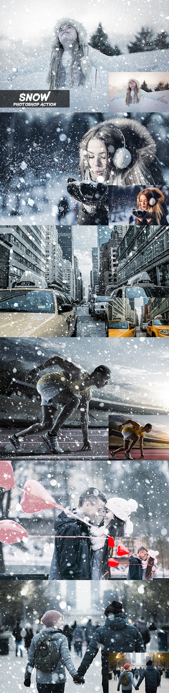 Snow Photoshop Action - Photo Effects Actions