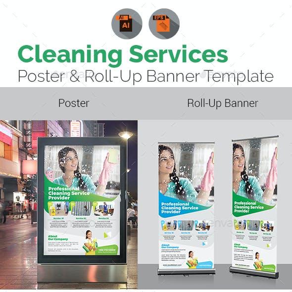 Cleaning Service Signage Bundle