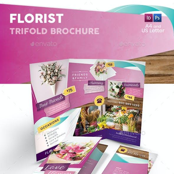 Florist Trifold Brochure 4