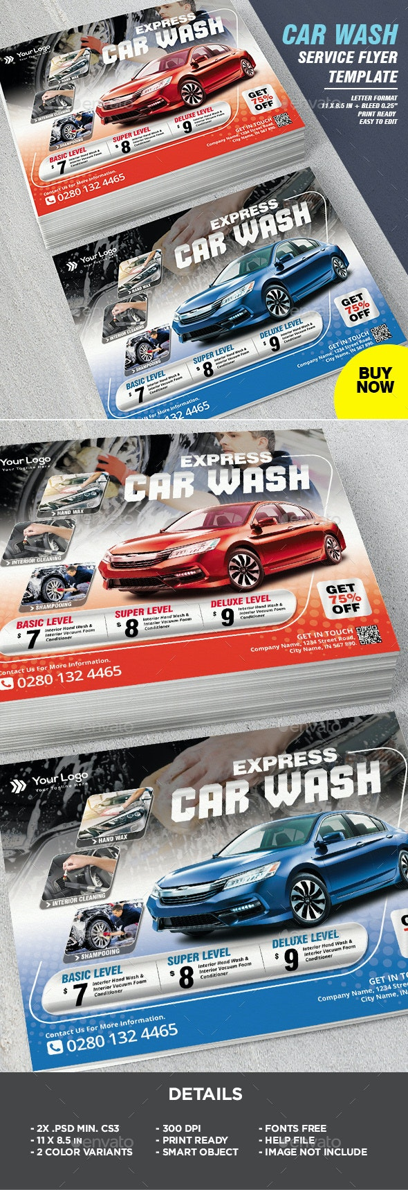 Car Wash Auto Flyer Template - Corporate Flyers