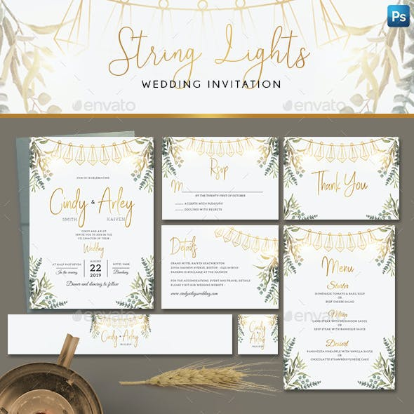 String Lights Invitation Set