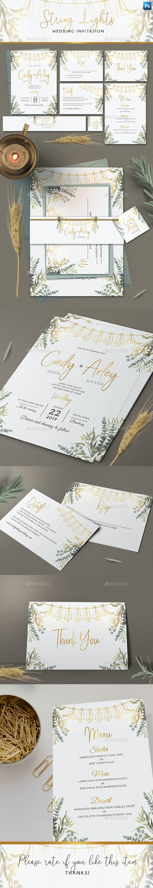 String Lights Invitation Set - Weddings Cards & Invites