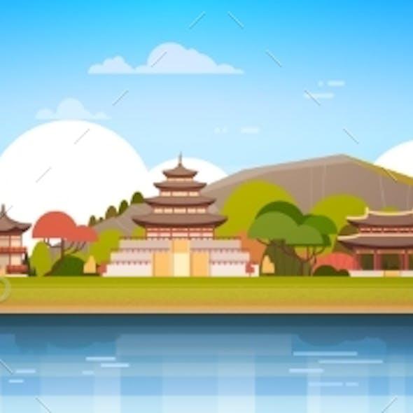 Korea Palaces On River Landscape South Korean
