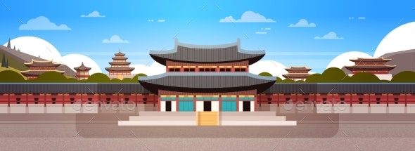 South Korea Landmark Famous Palace Traditional - Buildings Objects