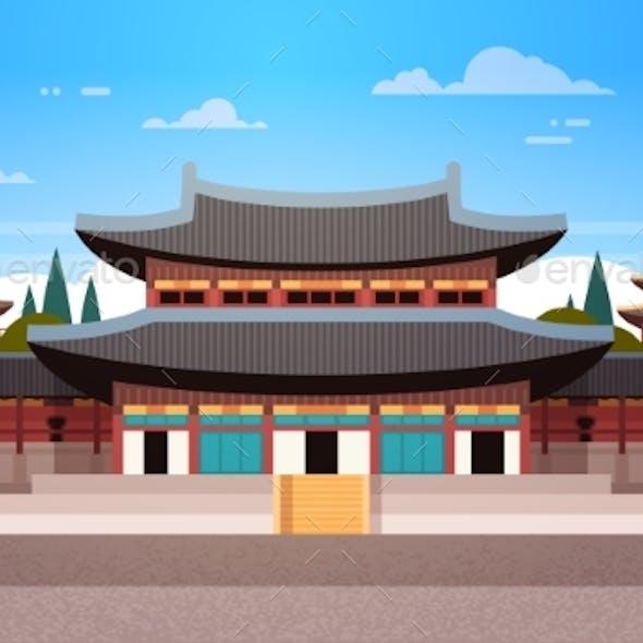South Korea Landmark Famous Palace Traditional