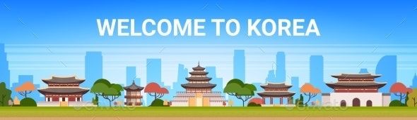 Welcome To Korea Poster Traditional Palace - Buildings Objects