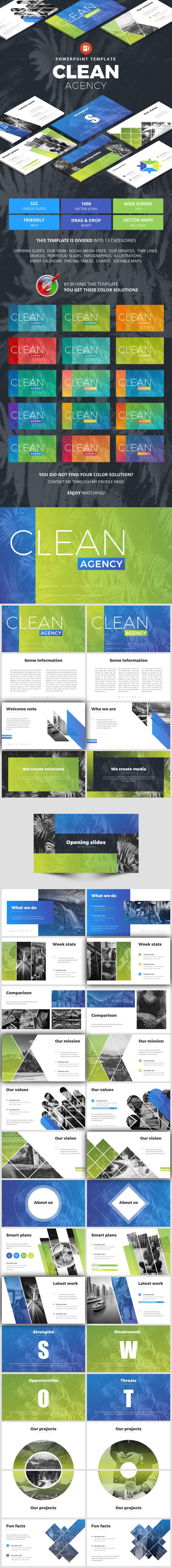 Clean Agency - Business PowerPoint Templates
