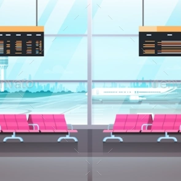 Airport Interior Waiting Hall Departure Lounge