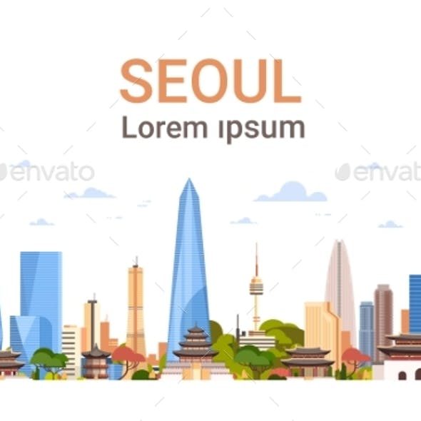 Seoul City Background Skyline South Korea View