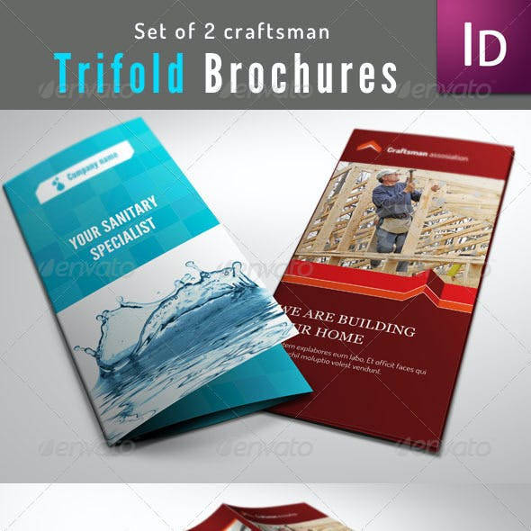 Set of 2 Trifold Brochure