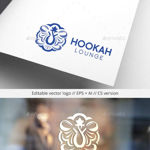 Hookah Lounge Logo Template