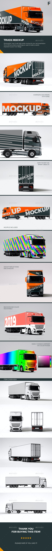 Truck Mockup - Vehicle Wraps Print