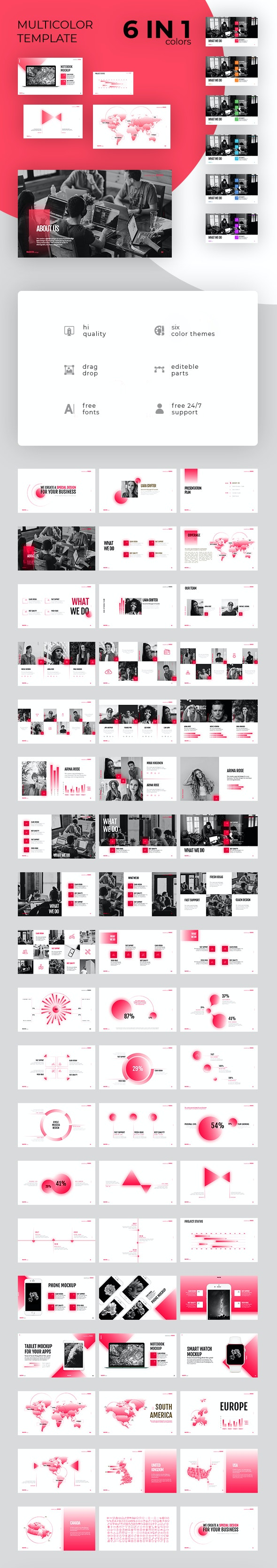 6 in 1 - Presentation Template - Startup Corporate Keynote - Business Keynote Templates
