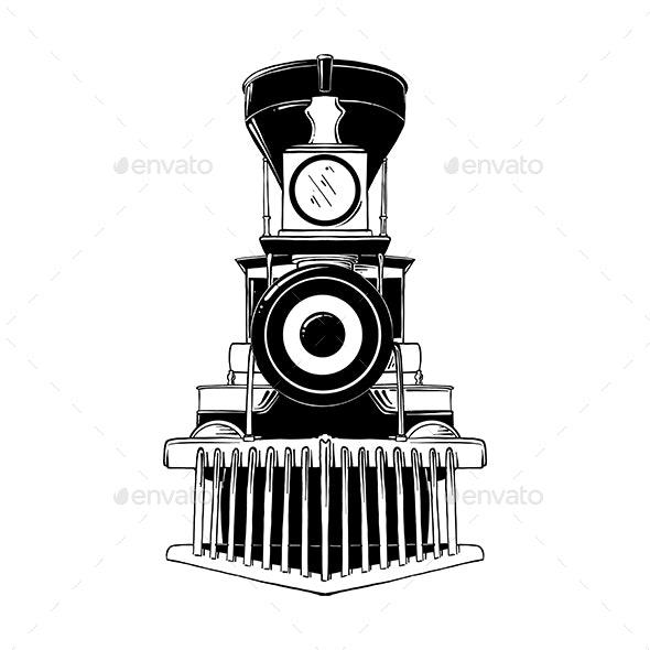 Old Locomotive - Retro Technology