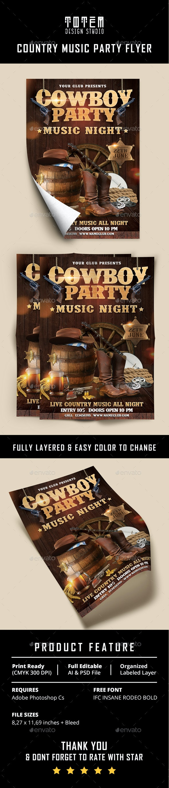 Country Music Flyer Vol. 2 - Print Templates