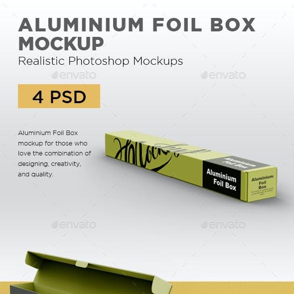 Aluminium Foil Box Mockup