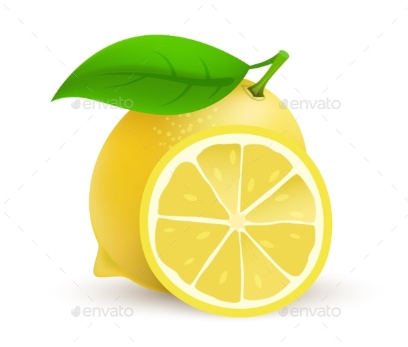 Whole Single Lemon Fruit - Food Objects