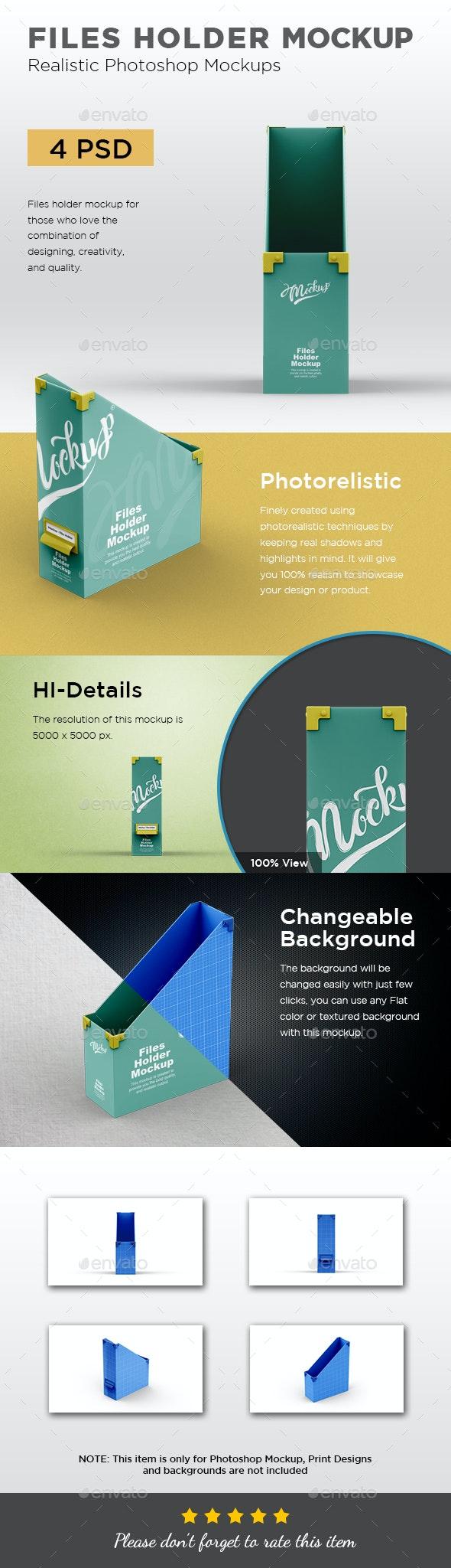 Files Holder Mockup - Product Mock-Ups Graphics