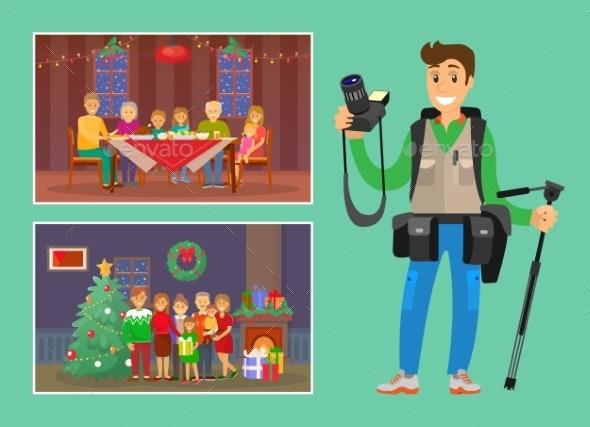 Christmas Holiday Celebration Memorable Photo - People Characters