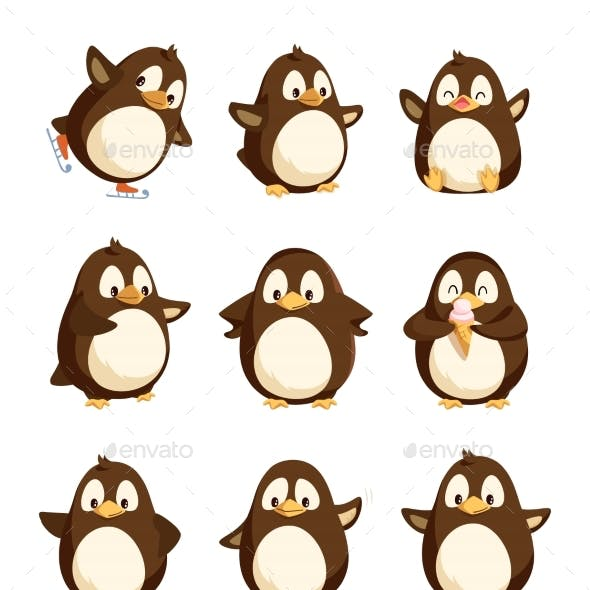 Penguin Animal with Wings Smooth Feathers Bird