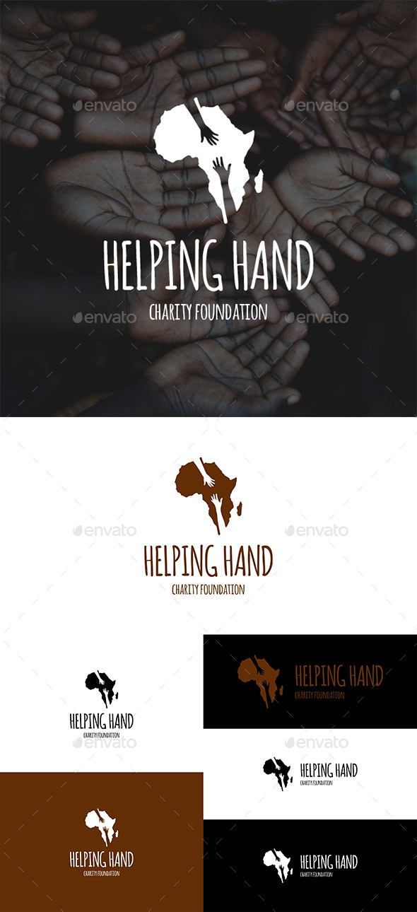 Helping Hand to Africa - Vector Abstract