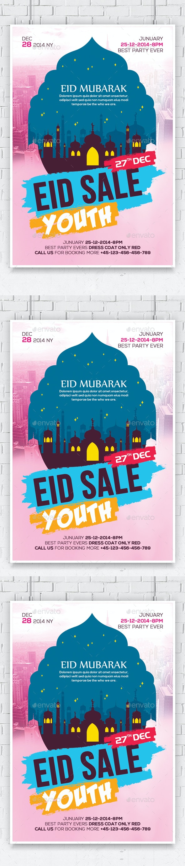 Eid Mubarak Flyer - Flyers Print Templates
