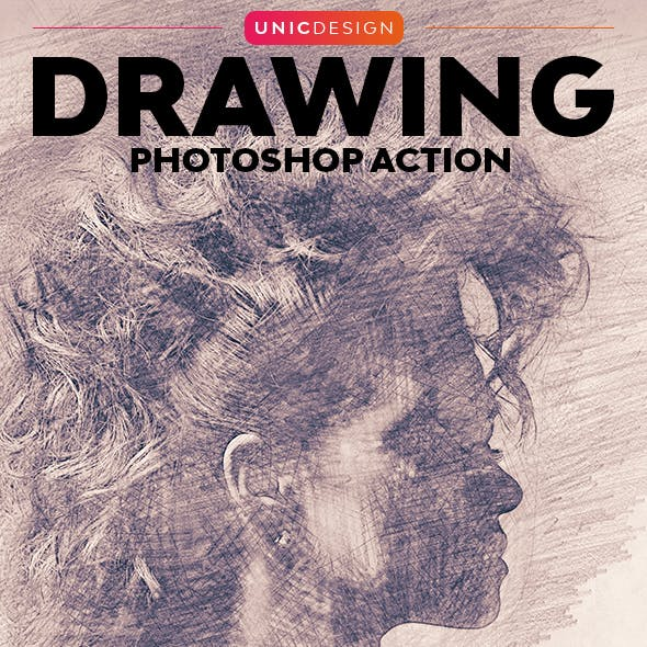 Drawing Photoshop Action