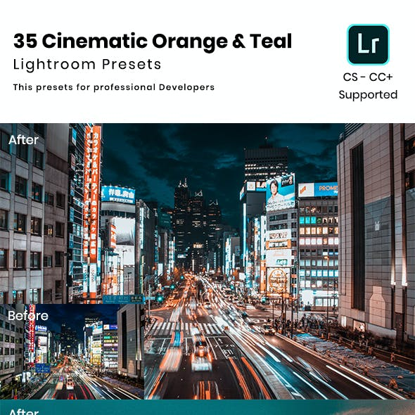 35 Cinematic Orange & Teal Lightroom Presets