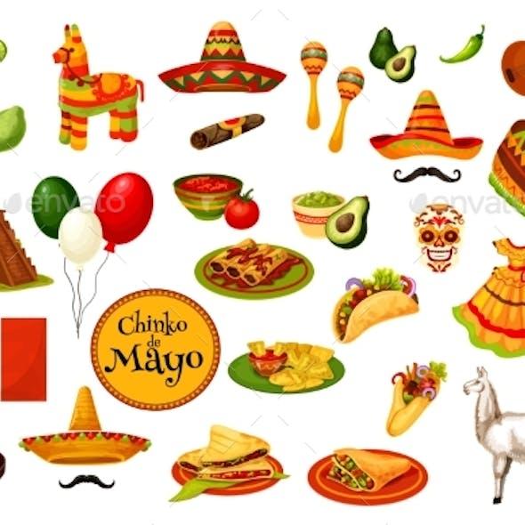 Cinco De Mayo Holiday Icons, Mexican Culture