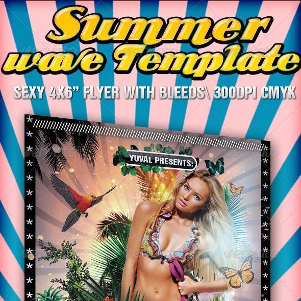 Summer Wave Flyer template