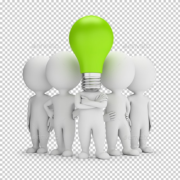 3D Small People - Ideas Leader - Characters 3D Renders