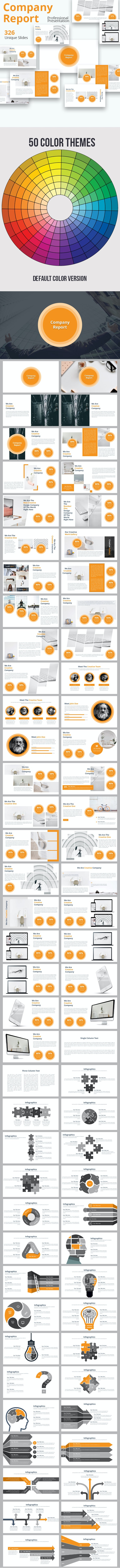 Company Report Powerpoint Presentation Template - Business PowerPoint Templates