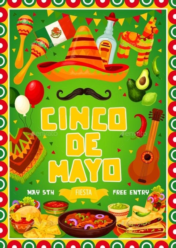 Mexican Fiesta Cinco De Mayo Holiday Party Food - Seasons/Holidays Conceptual