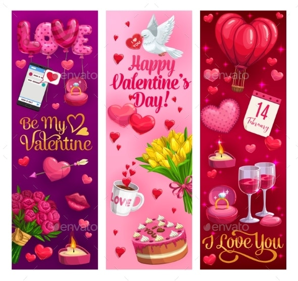 Valentines Day Hearts and Romantic Holiday Gifts - Valentines Seasons/Holidays